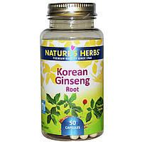 Nature's Herbs, Корень корейского женьшеня, 50 капсул