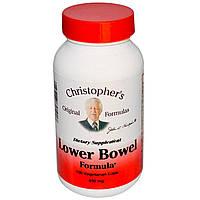 Christopher's Original Formulas, Средство для нижнего отдела кишечника, 450 мг, 100 капсул
