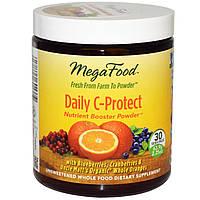 MegaFood, Питательный порошок Daily C-Protect, 2,25 унций (63,9 г)