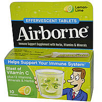AirBorne, Шипучие таблетки, Лимон и лайм, 10 таблеток