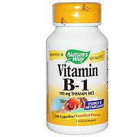 Nature's Way, Витамин B1, 100 мг тиамин HCl, 100 капсул