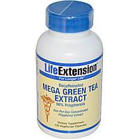 Life Extension, Мега экстракт зеленого чая без кофеина , 100 вегетарианских капсул