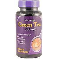 Natrol, Зеленый чай, 500 мг, 60 капсул