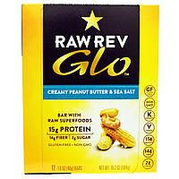 Raw Revolution, Glo, Кремообразная арахисовая паста и морская соль, 12 батончиков, каждый по 1.6 унц. (46 г)