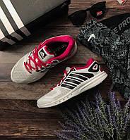 Фирменные кроссовки Adidas Run Strong из дышащего текстиля с кожаными вставками   SH1419