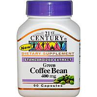 21st Century, Зеленые кофейные зерна, 400 мг, 90 капсул