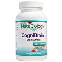 Nutricology, КогниБрейн, питание мозга, 90 вегетарианских таблеток