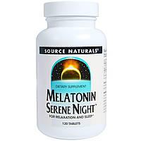Source Naturals, Мелатонин для спокойной ночи, 120 таблеток