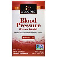 Bravo Teas & Herbs, Inc., Кровяное давление, травяной чай, без кофеина, 20 чайных пакетиков, 1,06 унц. (30 г)