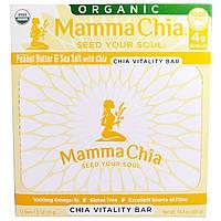 Mamma Chia, Органический батончик с чиа для жизненной силы, арахисовое масло и морская соль с чиа, 12 батончиков, 1,2 унции (35 г)
