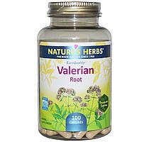 Nature's Herbs, Корень валерианы, 100 капсул