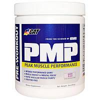 GAT, PMP, предтренировка, максимальная мышечная нагрузка, ягодный взрыв, 9 унций (255 г)