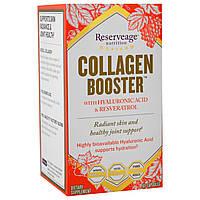 ReserveAge Nutrition, Collagen Booster, с гиалуроновой кислотой и ресвератролом, 60 капсул