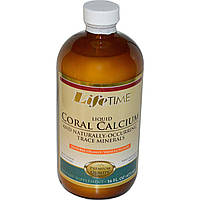 Life Time, Жидкий коралловый кальций и натуральные микроэлементы со вкусом апельсина/ванили, 16 жидких унций (473 мл)