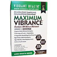 Vibrant Health, Maximum Vibrance, органический мульти минеральный комплекс, версия 1.1, Шоколад, 10 пакетиков, 0,94 унции (26,67 г) каждый