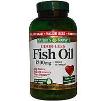 Nature's Bounty, Рыбий жир без запаха, 1200 мг, 200 мягких капсул в оболочке