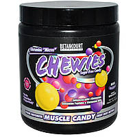 Betancourt, Жевательные микро-конфеты с глутамином, без сахара, сумасшедшая ягодня смесь, 8.1 унций (примерно 567 таблеток)