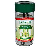 Frontier Natural Products, Органические плоды ванили, выращенный на ферме, цельные, 1 плод