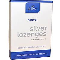 Activz, Серебряные леденцы для горла с медом и мятой, 21 леденец, 3,4 унции (95 г)
