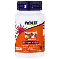Now Foods, Methyl Folate , 1,000 mcg, 90 Tablets