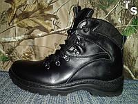 Ботинок тактический зимний кожаный чёрный