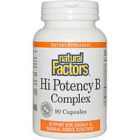 Natural Factors, Комплекс для нормализации потенции с витаминами группы B, 90 капсул