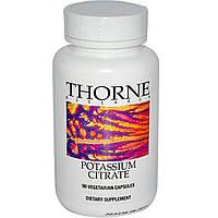 Thorne Research, Цитрат калия, 90 растительных капсул