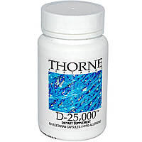 Thorne Research, D-25,000, 60 растительных капсул