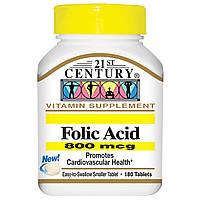 21st Century, Фолиевая кислота, 800 мкг, 180 таблеток