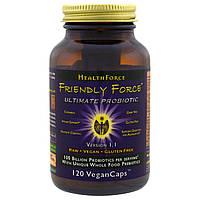 HealthForce Nutritionals, Пробиотик Friendly Force, 120 растительных капсул