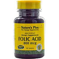 Nature's Plus, Фолиевая кислота, 800 мкг, 90 таблеток