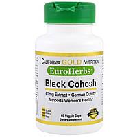 California Gold Nutrition, EuroHerbs, Клопогон Кистевидный, XT 40 мг, VC MB, 60 карат