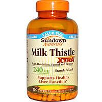 Sundown Naturals, Расторопша Экстра, 240 мг, 250 капсул