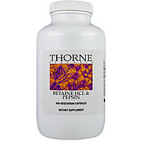 Thorne Research, Бетаин HCL и пепсина, 450 Veggie Caps