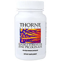 Thorne Research, Пиколинат Цинка с Удвоенной Эффективностью, 60 Растительных капсул