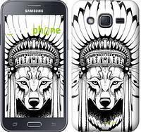 "Чехол на Samsung Galaxy J2 J200H Тотем волка ""3484c-190"""