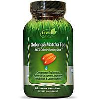 Irwin Naturals, Чай улун и маття, ЭГКГ-диета для сжигания калорий, 63 мягких капсулы с жидкостью