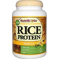 NutriBiotic, Белок риса-сырца, с ванильным вкусом, 1 фунт 5 унций (600 г)