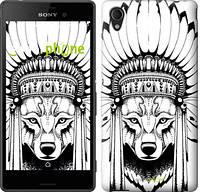 """Чехол на Sony Xperia X Тотем волка """"3484c-446"""""""