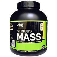 Optimum Nutrition, Serious Mass, белковый порошок для набора веса, банановый, 2,72 кг (6 фунтов)