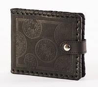Кожаный кошелек, ручная оплетка
