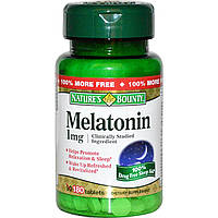 Nature's Bounty, Мелатонин, 1 мг, 180 таблеток