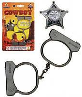 Игровой металлический набор Наручники и значок Шерифа Gonher  (323/0)