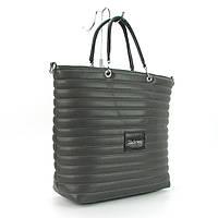 Серая сумка корзина стеганая большая Valenciy, фото 1