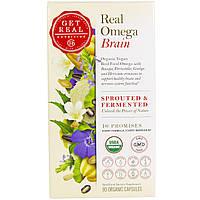 Get Real Nutrition, Настоящая Омега - мозг, 90 органических капсул