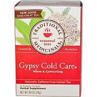 Traditional Medicinals, Травяной чай без кофеина, Цыганский рецепт избавления от простуды, 16 упакованных чайных пакетиков, 0,99унции (28г)
