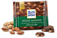 Шоколад RITTER SPORT WHOLE ALMONDS ( цельный миндаль) Германия 100г