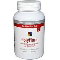 D'adamo, Полифлора, пробиотическая формула для диеты по группе крови 0, 120 капсул