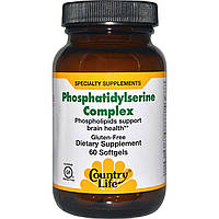 Country Life, Комплекс фосфатидилсерина, 60 мягких капсул