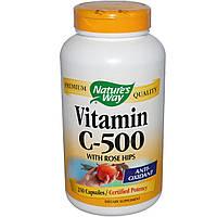 Nature's Way, Витамин C-500 с шиповником, 250 капсул